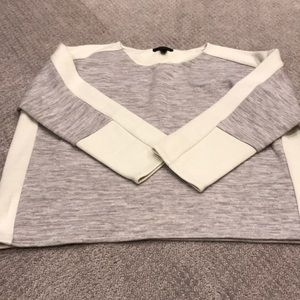 Cropped color block j crew sweater